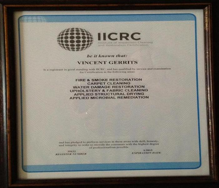 Water Damage IICRC Certified